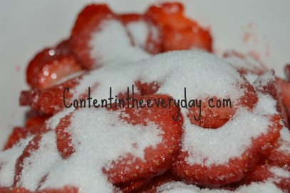 Strawberries covered in sugar