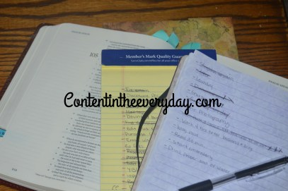 Bible, Journal, and To Do Lists