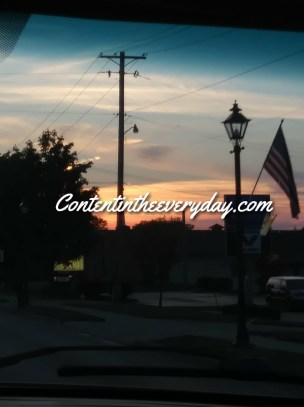 Flag in Front on Sunset