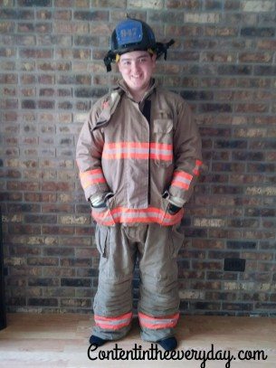 Young Man in Firefighter gear