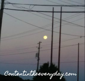 Moon and power lines
