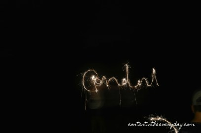 Sparkler Writing Flipped