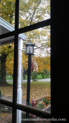 Fall Lamp Post