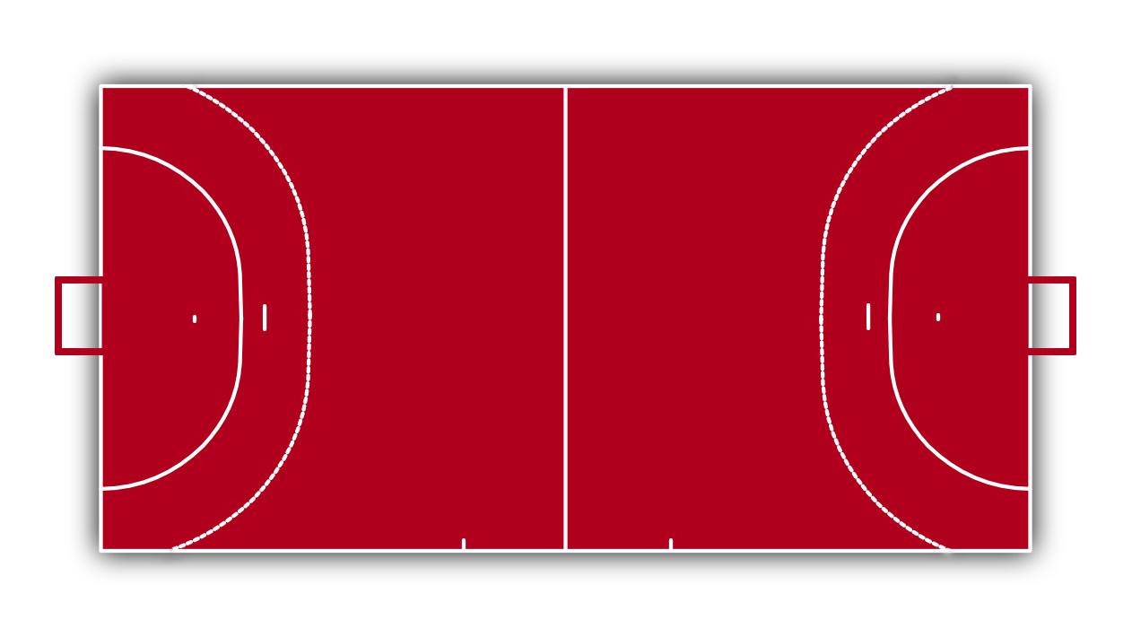 handball spielfeld alle linien im