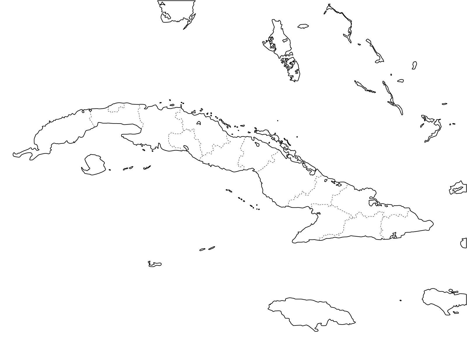 Mapa De Provincias De Cuba Freemap