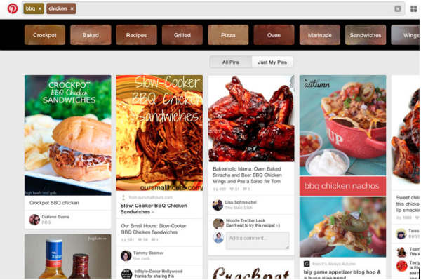 recipe example-pinterest guided search