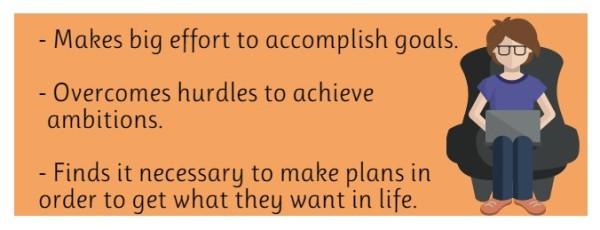 Rewarding Goal-Driven Persistence