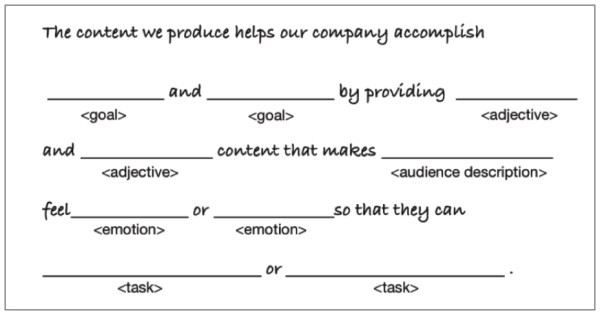 core-content-strategy-statement-template