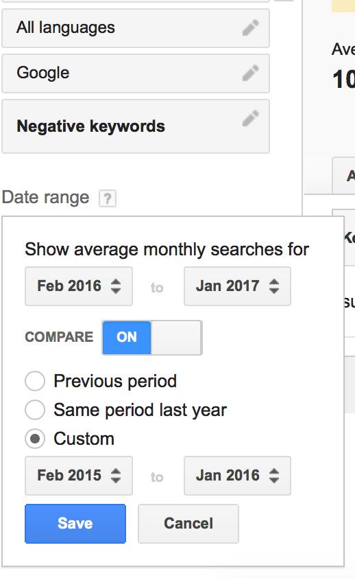 Keyword-planner-date-range