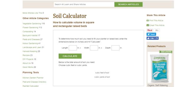 Soil-calculator