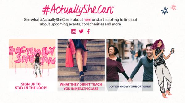 actually she can