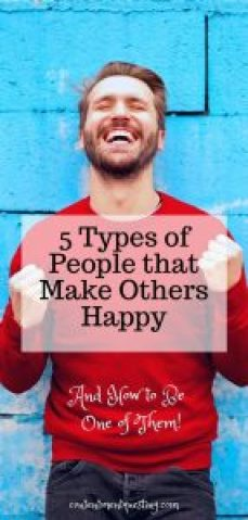 Types of People that makes others happy title pin