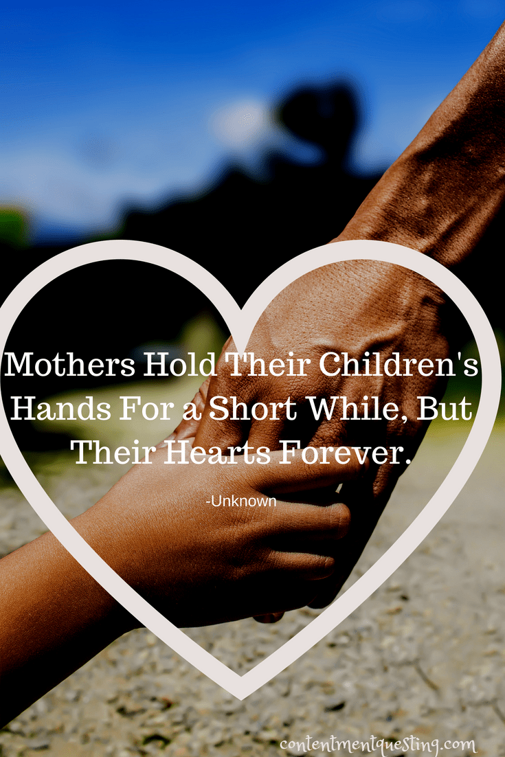 Mother, Quote, Mother's Day, Children Hands, Hearts forever, encouragement