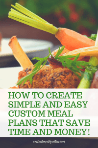 custom simple easy meal plans save time save money