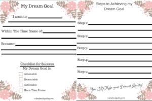 follow your dreams, pursue your dreams, inspiration, worksheet