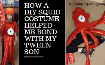 squid costume, diy costume, unique costume, unique halloween costume, bond tween son, quality time, how to, squid costume tutorial
