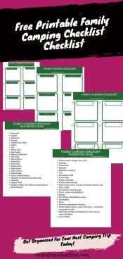 Family Camping Checklist pdf pin