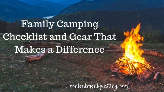 family camping checklist and gear