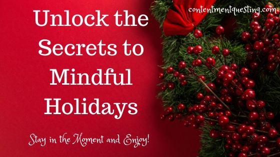 Mindful holidays blog banner