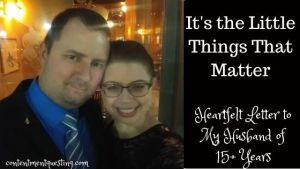 Little things that matter blog banner