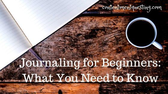 Journaling for beginners blog banner