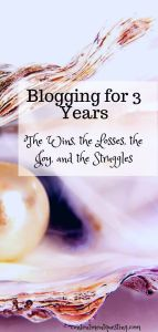 3 years of blogging at contentment questing pin title