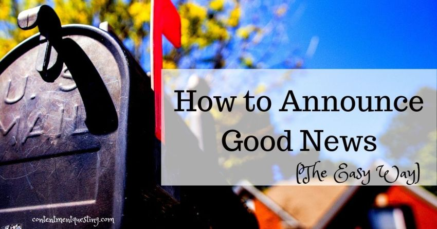 how to announce good news title