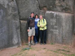 Dwarfed by Sacsaywaman Inca Ruins