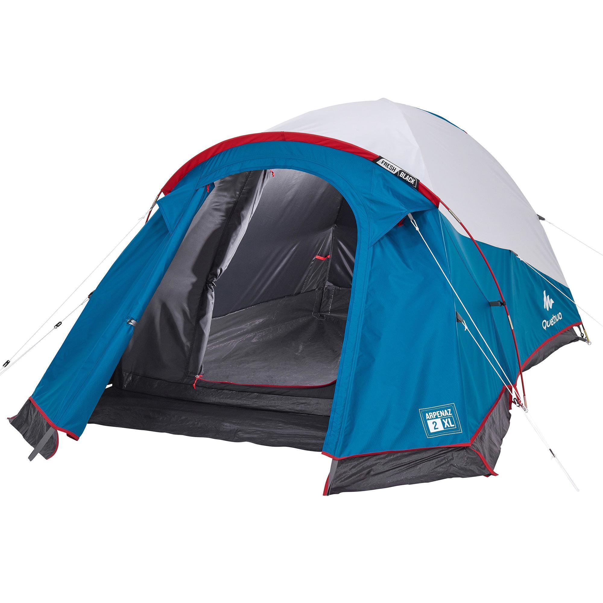 tente de camping arpenaz fresh black xl 2 personnes