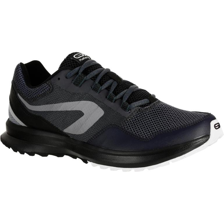 Kalenji Run Active Grip Men's Running Shoes Black / Gray