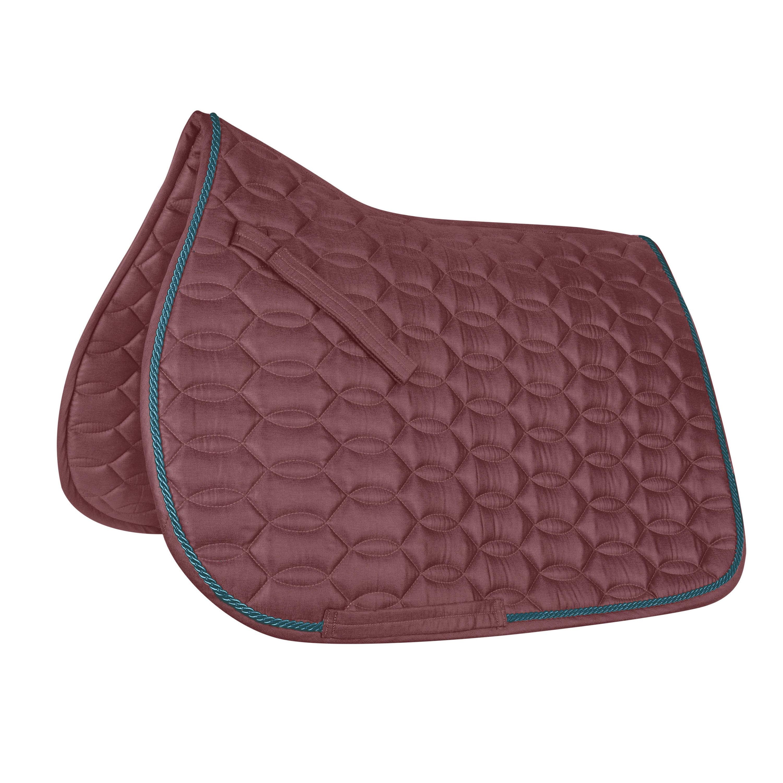 tapis de selle equitation cheval dressage ancona rouge