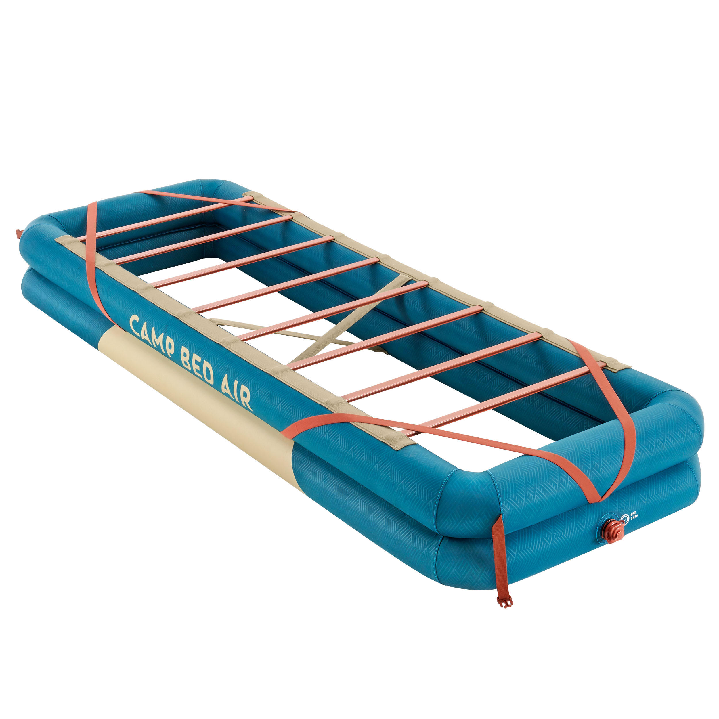 Campingbett Bed Air Aufblasbar 70 Cm X 200 Cm Fur 1 Person Blau Koppelbar Quechua Decathlon