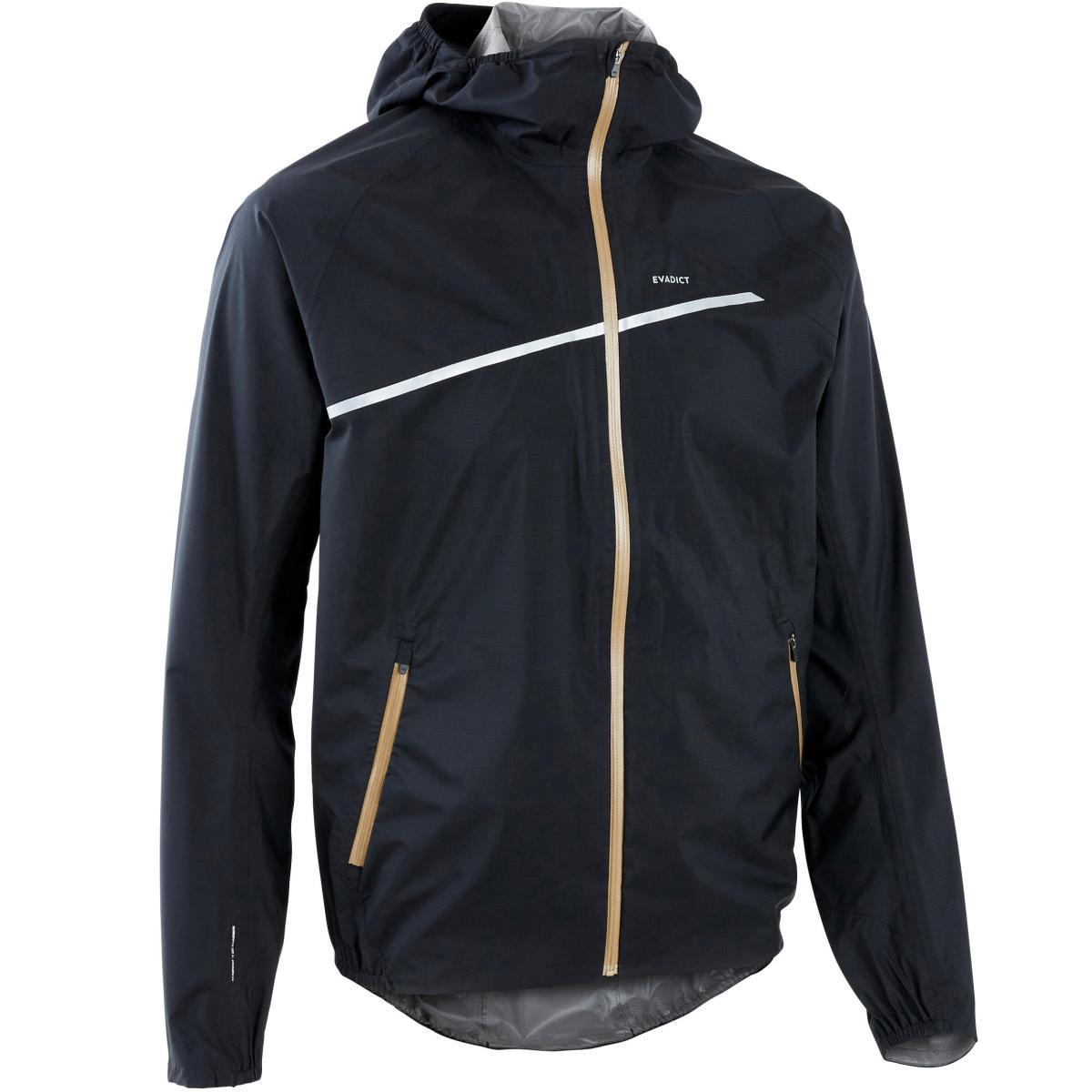 Regenjack voor trailrunning heren zwart/brons