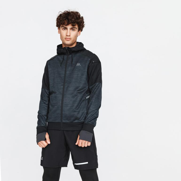 Men's Running Run Warm + Jacket Charcoal Gray