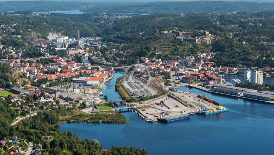 Ytre havneområdet med Halden bak