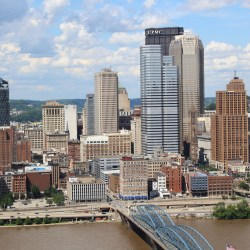 The beautiful city of Pittsburgh in July
