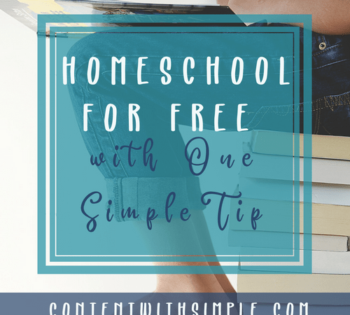 Homeschool for FREE with One Simple Tip