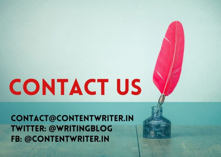 Contact Us | Content Writer India