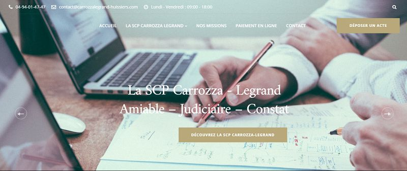 references-creation-site-internet-scp-carrozza-legrand-huissiers-hyeres