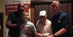 """Princeton alums Jason Garrett and John Thompson and Hall of Fame basketball coach Pete Carril were the featured speakers at """"A Night With Coaches"""" at Contes Pizza"""