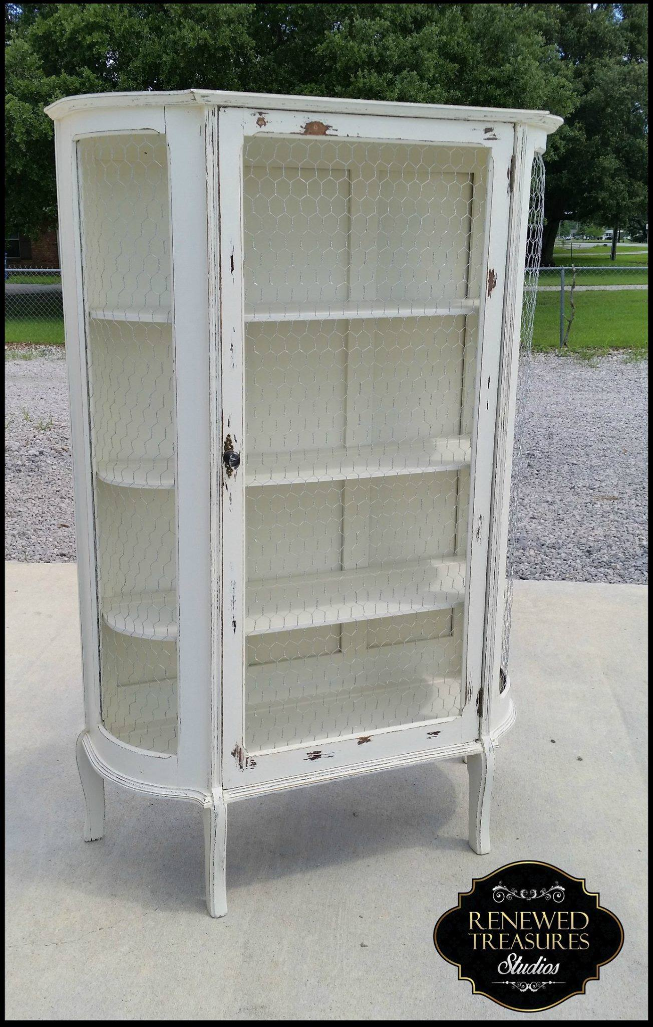 Farmhouse Shabby Chic Curio Cabinet General Finishes