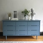 Blue Mid Century Modern Dresser General Finishes 2018 Design Challenge
