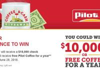 The Pilot Flying J Coffee And Cash Giveaway – Stand Chance To Win $10,000 And A $750 Pilot Flying J Gift Card