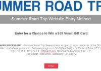 Summer Road Trip Sweepstakes – Stand Chance to Win $50 TA Branded Visa Gift Card
