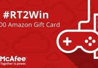 McAfee Home Giveaway – Stand Chance To Win a $100 Amazon Gift Card Prize