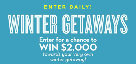 Midwest living Winter Getaways Sweepstakes - Stand To Win A Check in the amount of $2,000