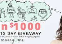 Marry Me Your Big Day $1,000 Monthly Giveaway