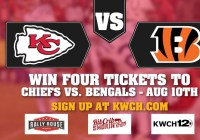 KWCH Chiefs Preseason Ticket Giveaway - Chance To Win Four Tickets