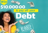 PCH $10k Pay Your Debt Sweepstakes - Stand To Win $10000 Cash