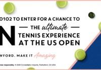 Kim Crawford Wines US Open Tennis Sweepstakes